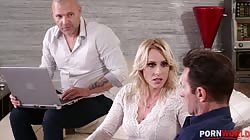 HandsOnHardcore - Hardcore DP Mother Daughter Orgy with Brittany Bardot and Mina